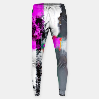 Miniaturka palm tree with splash painting texture abstract background in pink and black Sweatpants, Live Heroes