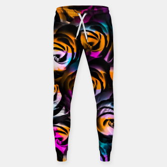 Miniaturka black rose texture abstract with painting abstract in orange pink blue Sweatpants, Live Heroes