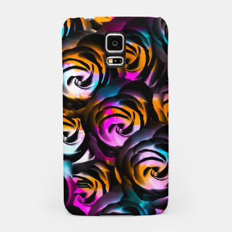 Miniaturka black rose texture abstract with painting abstract in orange pink blue Samsung Case, Live Heroes