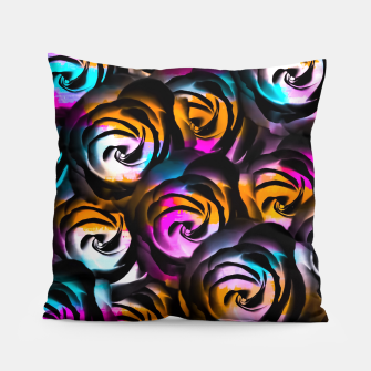 Miniaturka black rose texture abstract with painting abstract in orange pink blue Pillow, Live Heroes