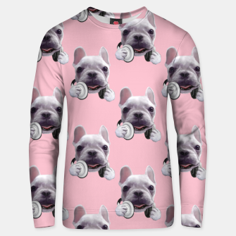 Thumbnail image of French Bulldog Unisex sweater, Live Heroes