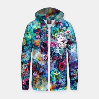 Thumbnail image of Surreal Skull Zip up hoodie, Live Heroes