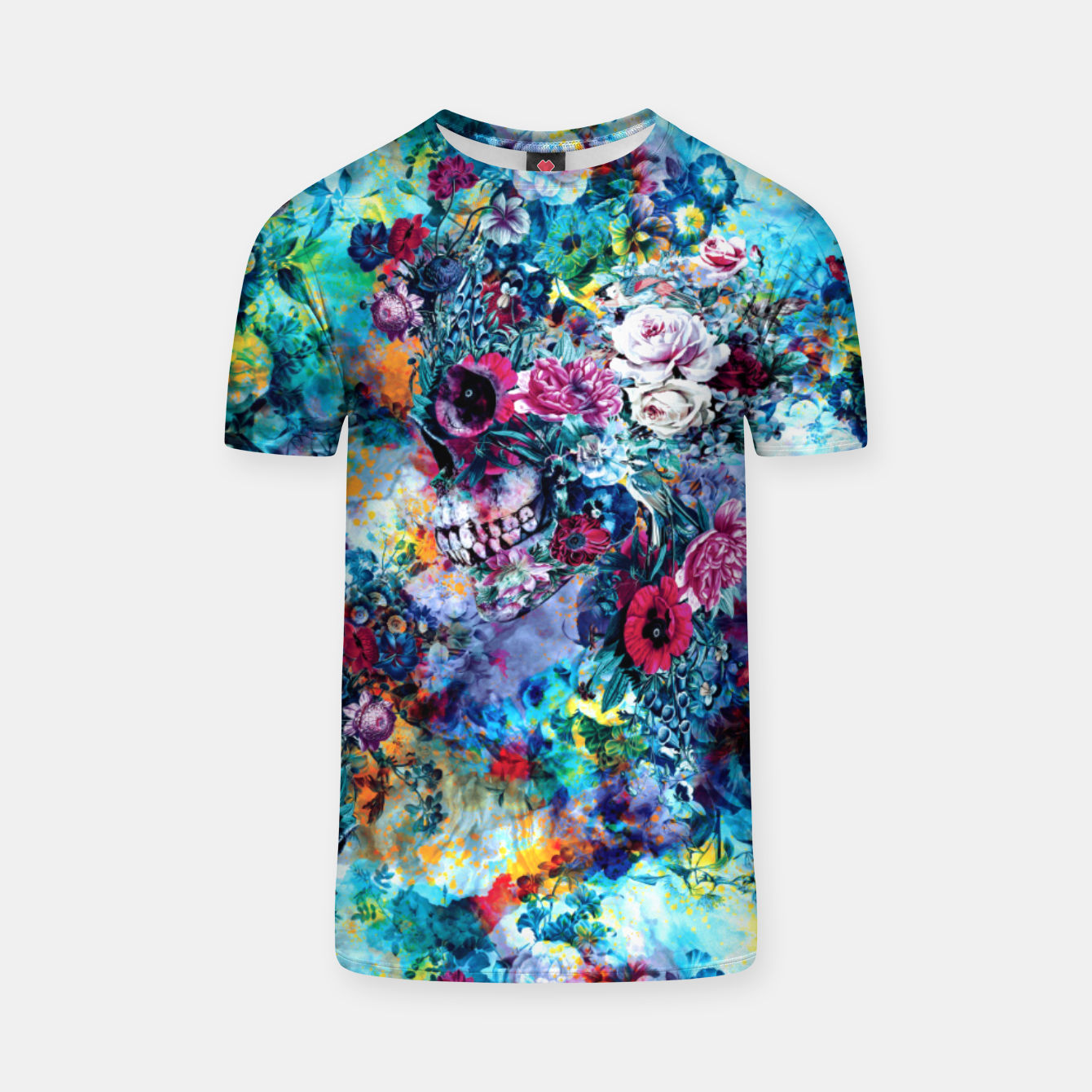 Image of Surreal Skull T-shirt - Live Heroes