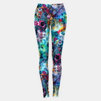 Miniatur Surreal Skull Leggings, Live Heroes