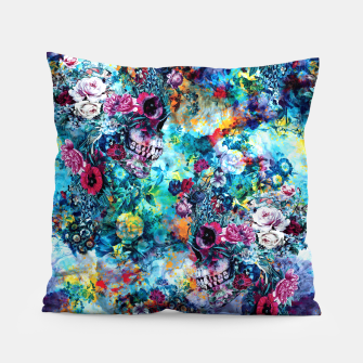 Miniatur Surreal Skull Pillow, Live Heroes