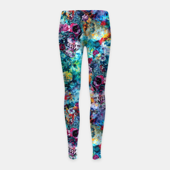 Miniatur Surreal Skull Girl's leggings, Live Heroes