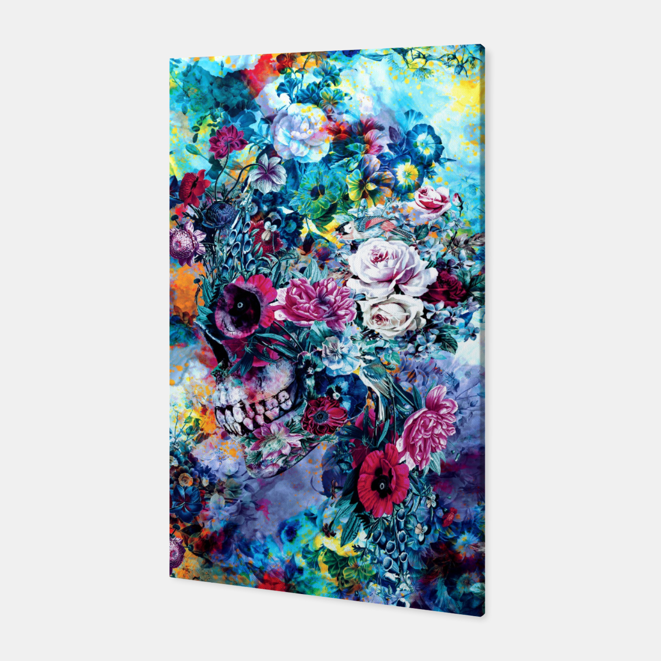 Image de Surreal Skull Canvas - Live Heroes