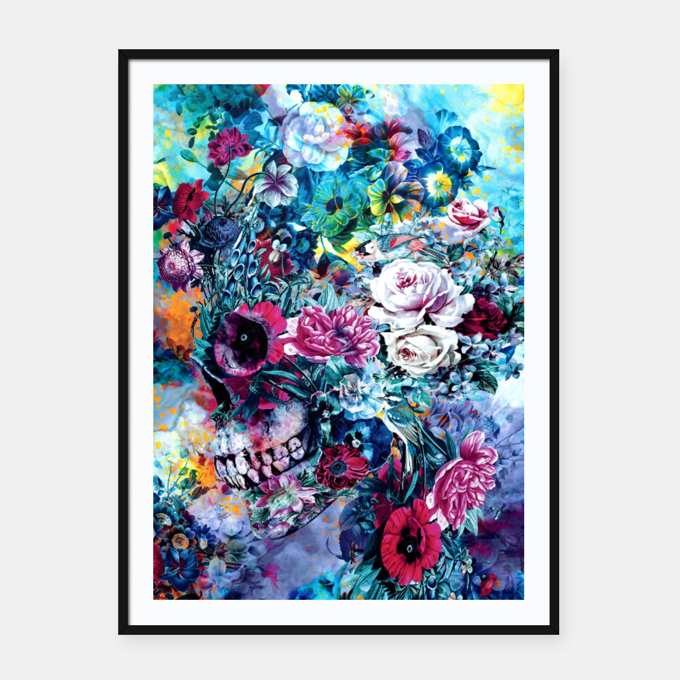 Image of Surreal Skull Framed poster - Live Heroes