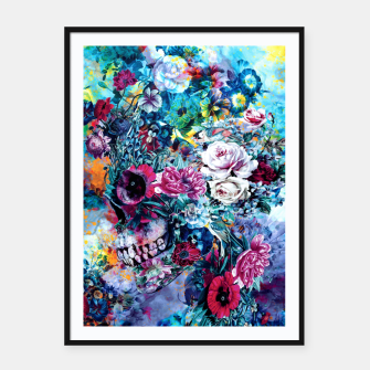 Thumbnail image of Surreal Skull Framed poster, Live Heroes