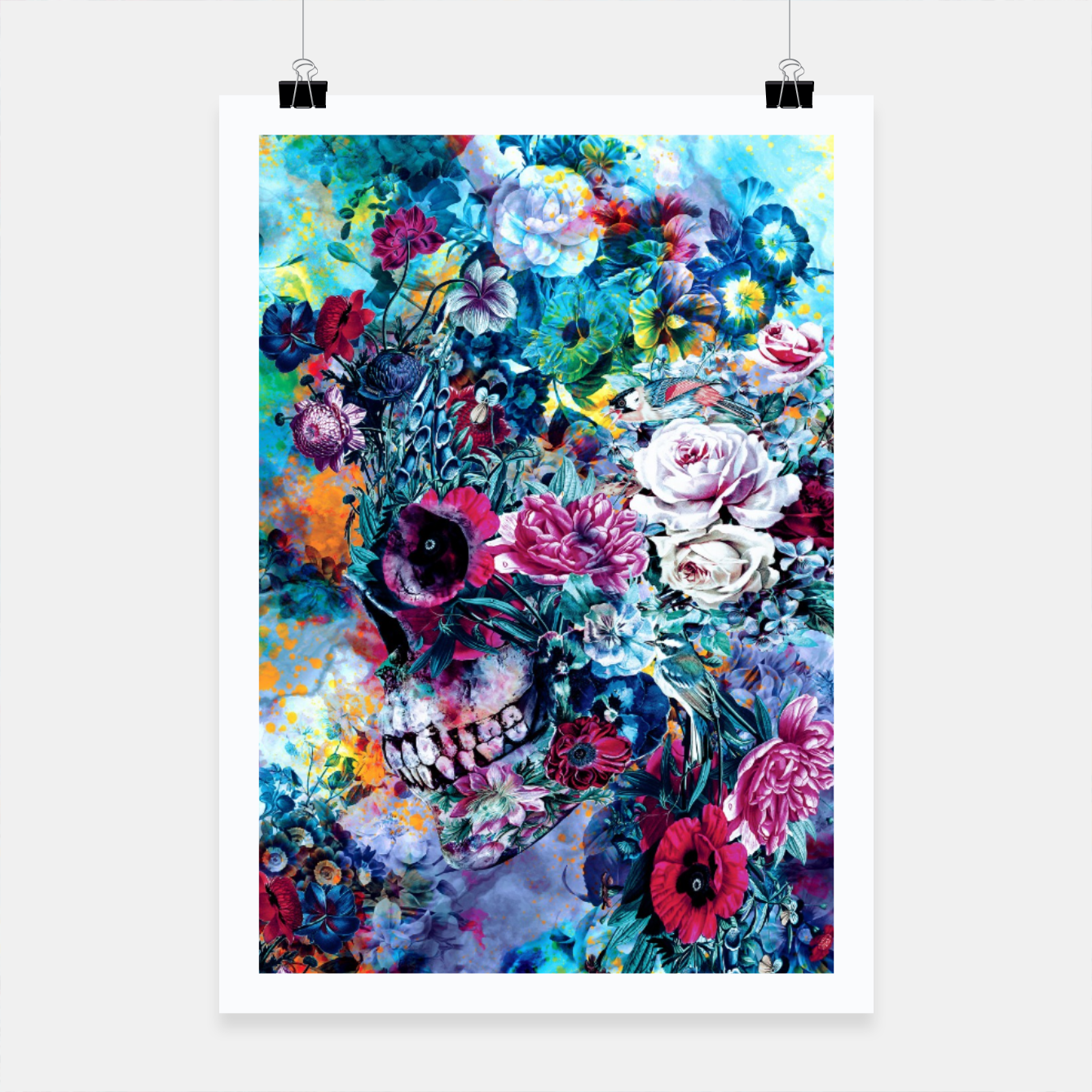 Foto Surreal Skull Poster - Live Heroes