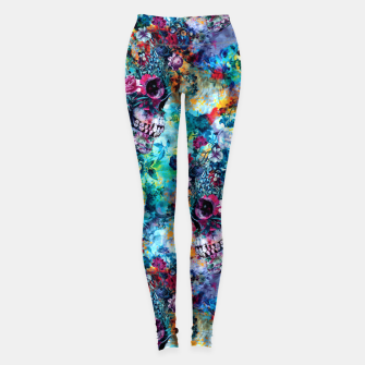 Thumbnail image of Surreal Skull Leggings, Live Heroes