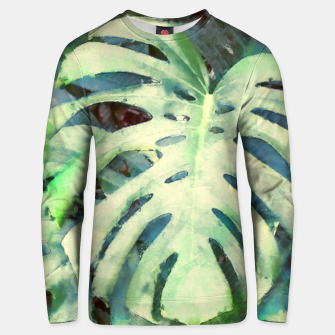 Thumbnail image of Monstera watercolor Bluza unisex, Live Heroes