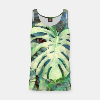 Thumbnail image of Monstera watercolor Tank Top, Live Heroes