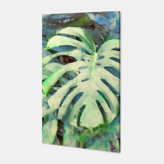 Thumbnail image of Monstera watercolor Canvas, Live Heroes