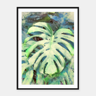 Thumbnail image of Monstera watercolor Plakaty w ramie , Live Heroes