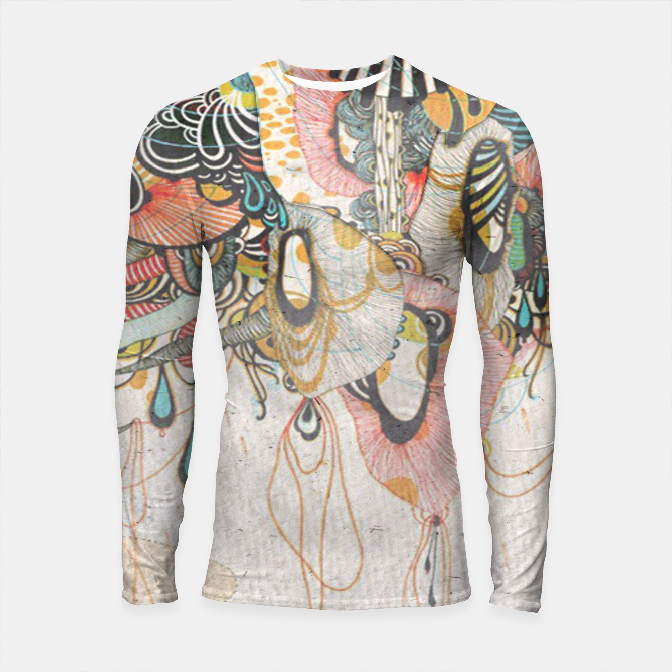 Image of Language of Light doodling Journal  Longsleeve rashguard  - Live Heroes