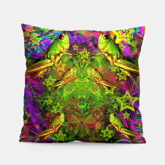 Thumbnail image of Grasshopper Dream Land Pillow, Live Heroes