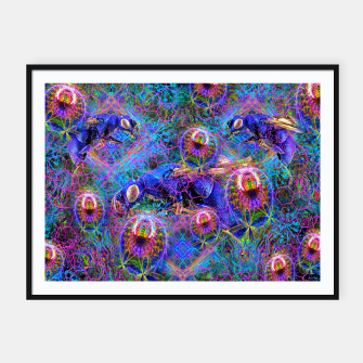 Miniatur Psychotic Cuckoo Wasps Framed poster, Live Heroes