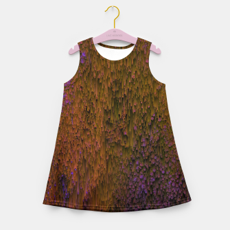 Thumbnail image of Flower Shower - Abstract Pixel Art Girl's summer dress, Live Heroes