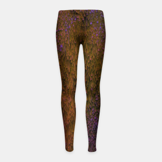 Thumbnail image of Flower Shower - Abstract Pixel Art Girl's leggings, Live Heroes