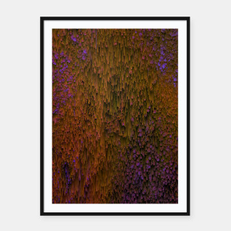 Thumbnail image of Flower Shower - Abstract Pixel Art Framed poster, Live Heroes