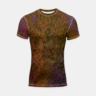 Thumbnail image of Flower Shower - Abstract Pixel Art Shortsleeve rashguard, Live Heroes