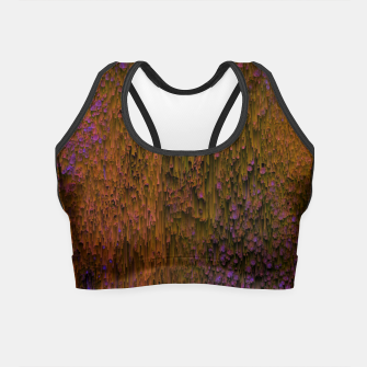 Thumbnail image of Flower Shower - Abstract Pixel Art Crop Top, Live Heroes
