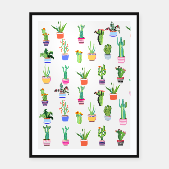 Thumbnail image of Cacti Land 2 Framed poster, Live Heroes