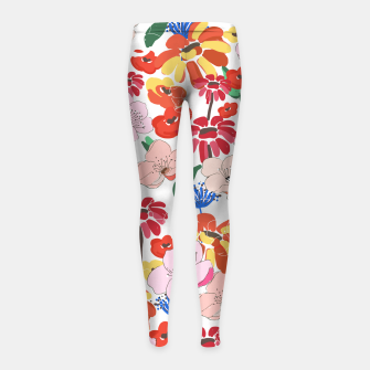 Thumbnail image of Pretty Blooms Girl's leggings, Live Heroes