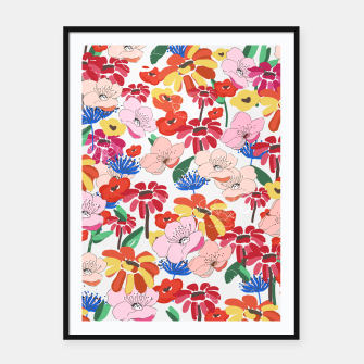 Thumbnail image of Pretty Blooms Framed poster, Live Heroes
