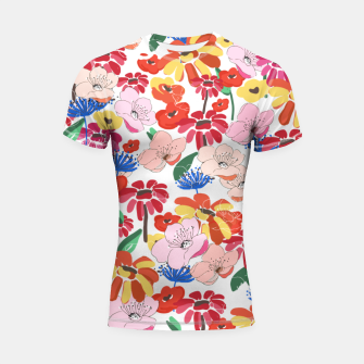 Thumbnail image of Pretty Blooms Shortsleeve rashguard, Live Heroes