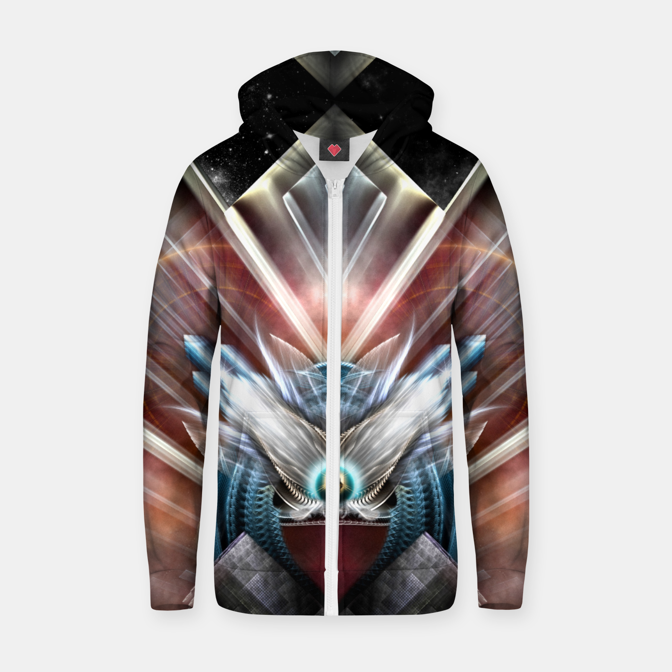 Image of Deco Wings Of Eternity Zip up hoodie - Live Heroes