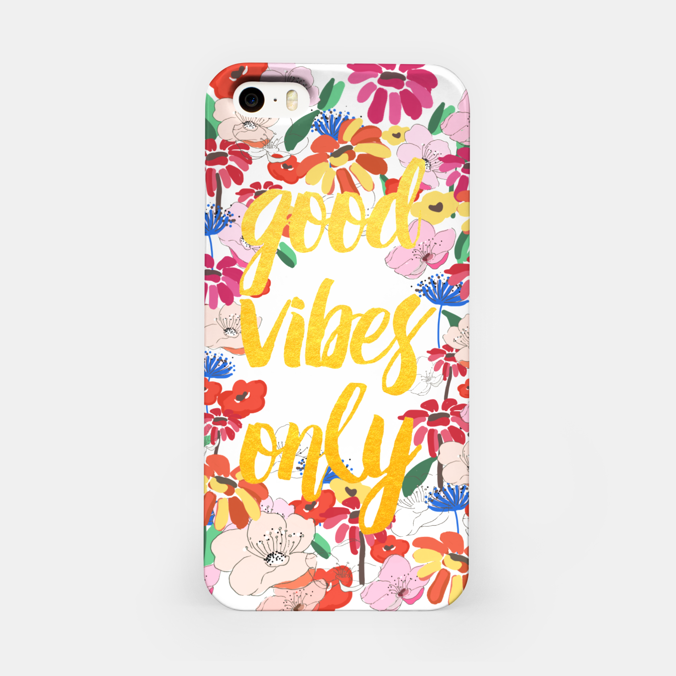 Image de Good Vibes Only iPhone Case - Live Heroes