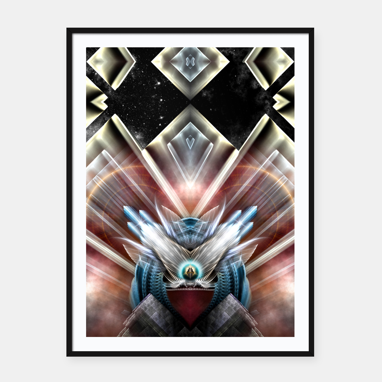 Image of Deco Wings Of Eternity Framed poster - Live Heroes