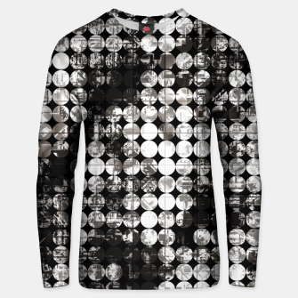 Miniaturka vintage psychedelic circle pattern painting abstract background in black and white Unisex sweater, Live Heroes