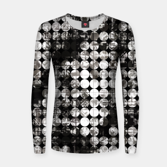 Miniaturka vintage psychedelic circle pattern painting abstract background in black and white Women sweater, Live Heroes