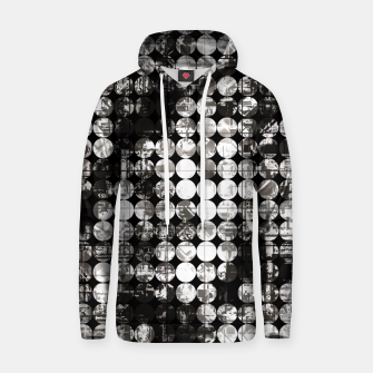 Miniaturka vintage psychedelic circle pattern painting abstract background in black and white Hoodie, Live Heroes