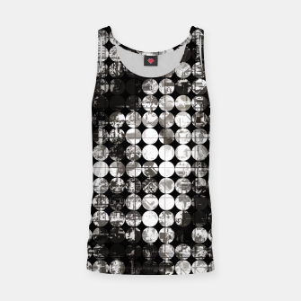 Miniaturka vintage psychedelic circle pattern painting abstract background in black and white Tank Top, Live Heroes