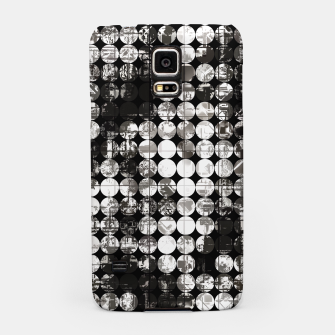 Miniaturka vintage psychedelic circle pattern painting abstract background in black and white Samsung Case, Live Heroes