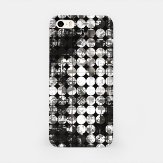 Miniaturka vintage psychedelic circle pattern painting abstract background in black and white iPhone Case, Live Heroes