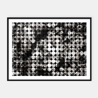 Miniaturka vintage psychedelic circle pattern painting abstract background in black and white Framed poster, Live Heroes