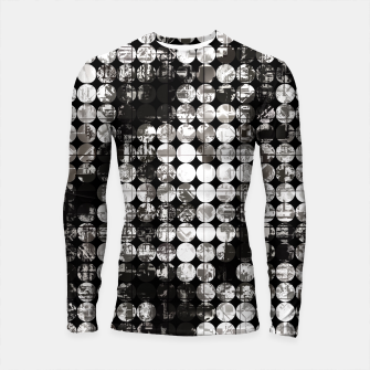 Miniaturka vintage psychedelic circle pattern painting abstract background in black and white Longsleeve rashguard , Live Heroes