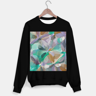 Miniaturka circle pattern abstract background in green brown purple Sweater regular, Live Heroes