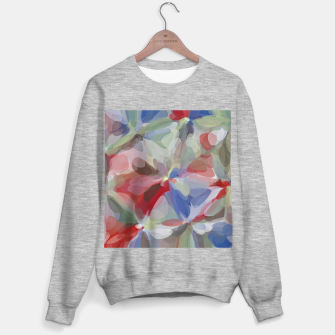 Miniaturka circle pattern abstract background in red blue green brown Sweater regular, Live Heroes