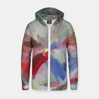 Miniatur circle pattern abstract background in red blue green brown Zip up hoodie, Live Heroes