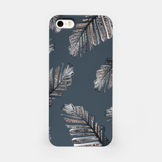Miniature de image de Banana Leaves Rose Gold Glitter Glam #1 #shiny #tropical #decor #art  iPhone-Hülle, Live Heroes