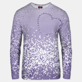Thumbnail image of Sparkling Ultra Violet Lady Glitter Heart #1 Unisex sweatshirt, Live Heroes