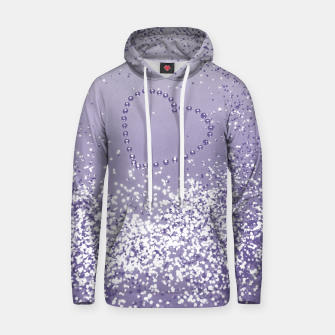 Thumbnail image of Sparkling Ultra Violet Lady Glitter Heart #1 Kapuzenpullover, Live Heroes