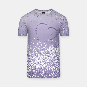 Thumbnail image of Sparkling Ultra Violet Lady Glitter Heart #1 T-Shirt, Live Heroes