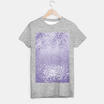 Thumbnail image of Sparkling Ultra Violet Lady Glitter Heart #1 T-Shirt regulär, Live Heroes